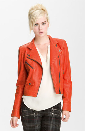 Truth and Pride Perforated Leather Biker Jacket