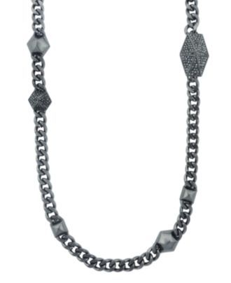Vince Camuto Hermatite Station Necklace