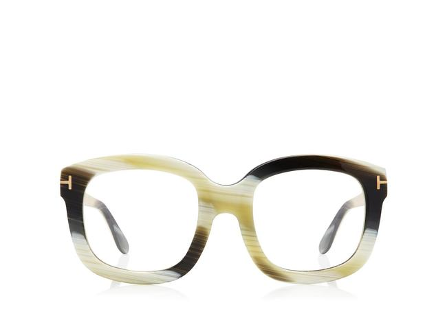Tom Ford Green Horn Oversized Square Optical Frame