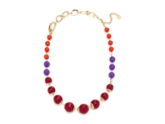 RJ Graziano Warm Tone Bead Necklace