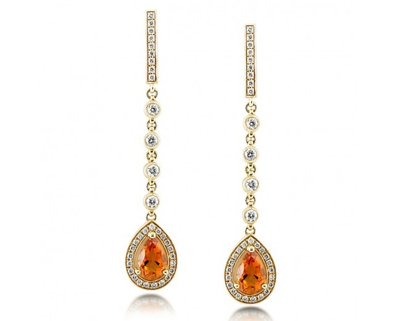 Kobelli Citrine and Diamond Earrings