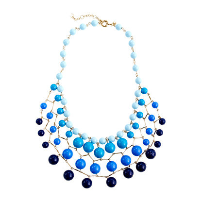 JCrew Ombre Beaded Cascade Necklace