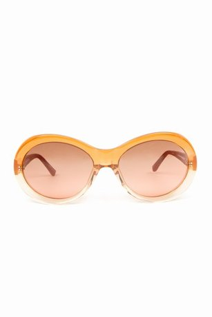The Row Thick Frame Oval Sunglasses