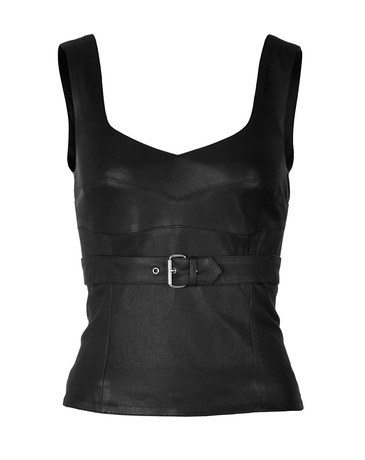 MCQ Alexander McQueen Leather Bustier Top