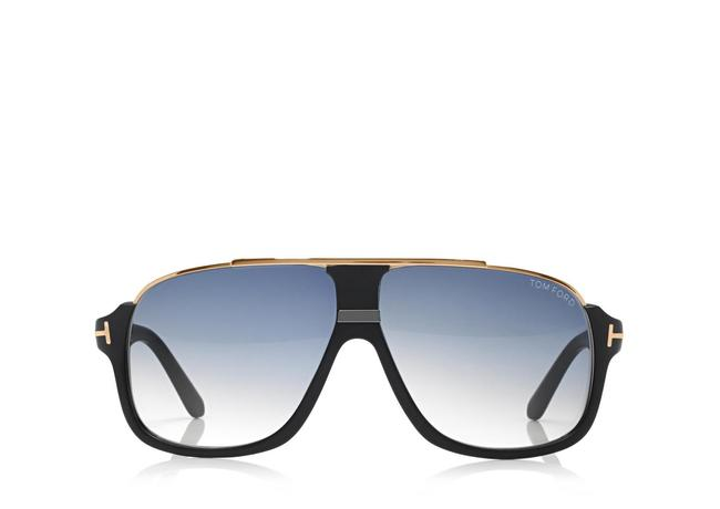 Tom Ford Matte Black Elliot Square Sunglasses