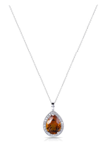 Kobelli Citrine and Diamond Pendant