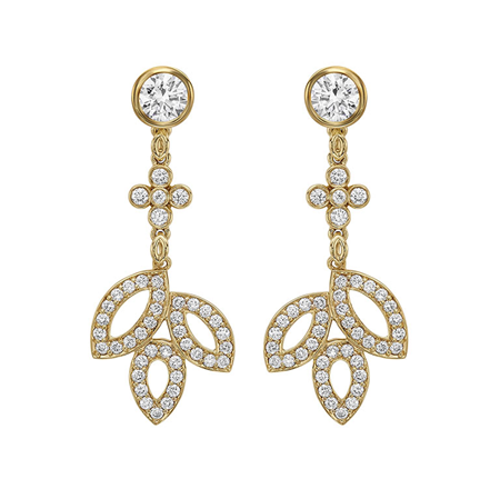 Harry Winston Lily Clustor Diamond Drop Earrings