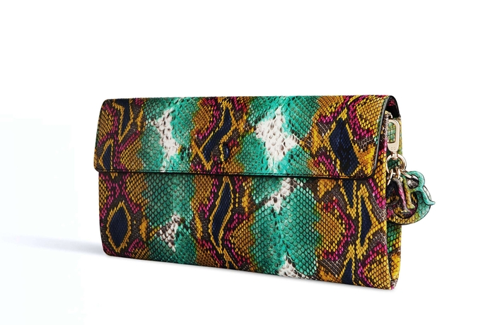 Dior Evening Pouch Hand-Painted Python