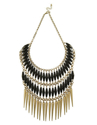 Miso Spike and Bead Necklace