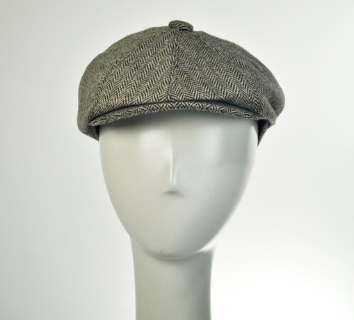 Jaxon Mix Herringbone Newsboy Cap