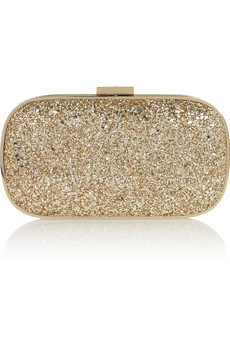 Anya Hindmarch Marano Glitter-Finish Box Clutch