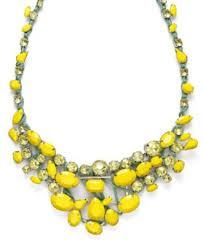 Yellow Stone Necklace by Bar III