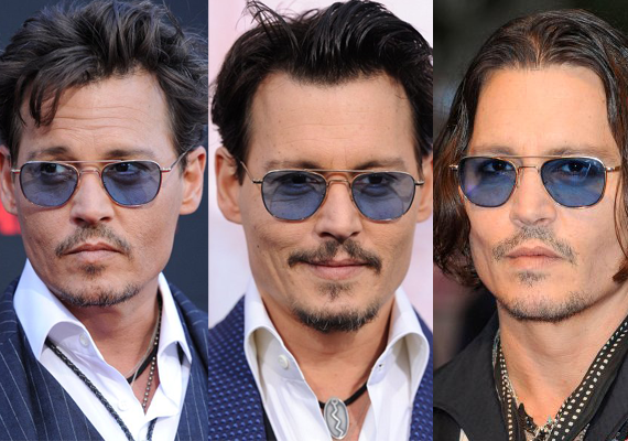 Johnny Depp's Blue Shades
