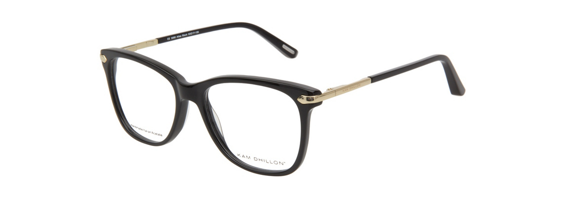 Kam Dhillon Oryx 3090 Atlas Black Eyeglasses