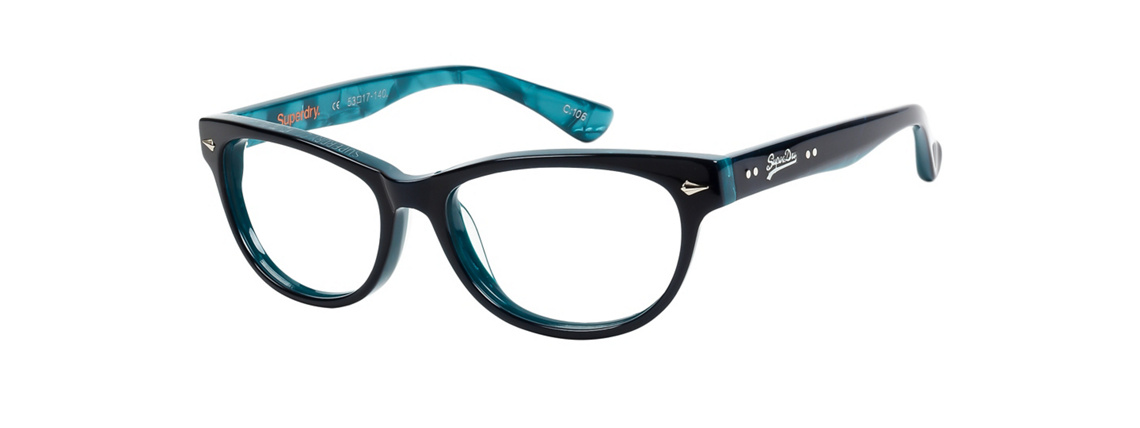 Superdry Icarus 106 Gloss Blue Aqua Eyeglasses